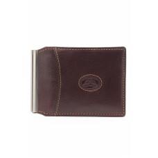 Кожаный коричневый зажим для денег Tony Perotti
