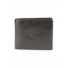 Маленький черный кожаный кошелек Tony Perotti