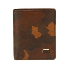 Коричневый кожаный кошелек Tony Perotti на кнопке
