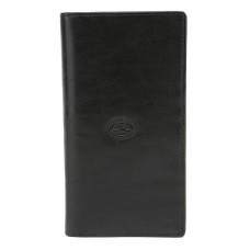 Большой черный кожаный кошелек Tony Perotti