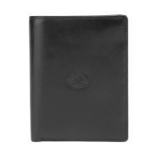 Мужской черный кожаный кошелек Tony Perotti