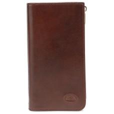 Большой кожаный коричневый кошелек  Tony Perotti
