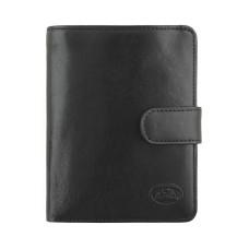 Черный кожаный кошелёк Tony Perotti с отделом автодокументы